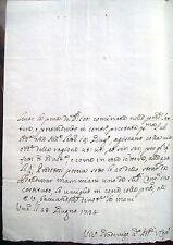 1732 LETTERA AUTOGRAFA VINCENZO II° GRADENIGO PODESTA' E VICE CAPITANO DI VERONA