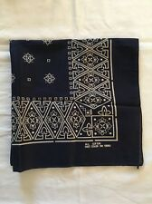 VINTAGE Antique Blue Fast Color Cotton RN13960 USA BANDANA Hanky HANDKERCHIEF