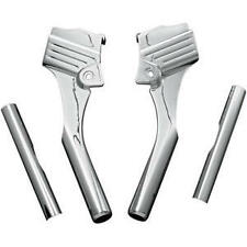 Harley-Davidson FLHRI Road King 1996-2005Deluxe Neck Covers Chrome by Kuryakyn