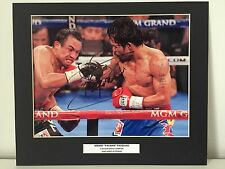 RARE Manny Pacquiao Boxing Signed Photo Display + COA AUTOGRAPH PACMAN