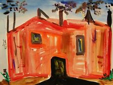 ORIGINAL STEEL MILL  Landscape Self Taught Naive Folk OUTSIDER Mary art MCW