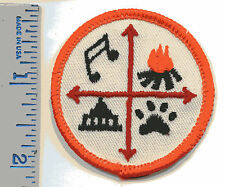 Vintage Patch - 4 Quadrants - Musie, Fire, Paw Print and Building