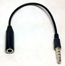 Earphone Converter Adapter Black Cable convert OMTP to CTIA or CTIA to OMTP 3.5m