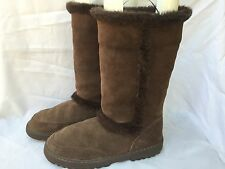 RAMPAGE Alison Faux Suede & Fur Fashion Winter Boots Women's Size 9 US  Brown