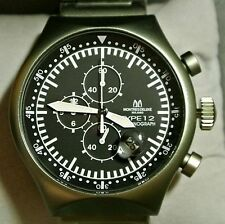 Montres De Luxe Milano Men's Type 12 Nero All-Aluminum 50 x 55 MM Chrono w/Date