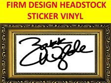 STICKER HEADSTOCK FIRM ZAKK WYLDE OZZY OSBOURNE BLACK LABEL SOCIETY GITARRE BASS