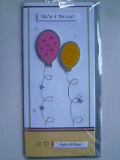 Beautiful Hand-finished 13th Birthday Card Teenager Handmade Balloons