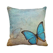 Butterfly Cotton Owl Linen Pillow Case Sofa Throw Cushion Cover Home Decor BDAU
