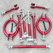 Red Suspension kit traction tie toe camber arms For Nissan 240SX S13 SILVIA 9PCS