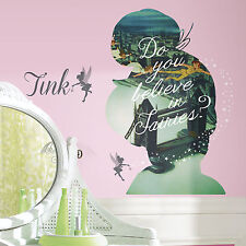 TINKERBELL SILHOUETTE Wall Decals Mural PETER PAN Fairies Room Decor Stickers