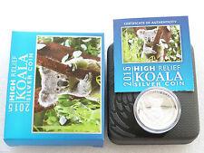 2015 Australia Koala High Relief $1 One Dollar Silver Proof 1oz Coin Box Coa
