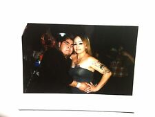 Vintage 2000s Photo Mexican Hispanic Man With Risque Girl Tattoos Skimpy Dress