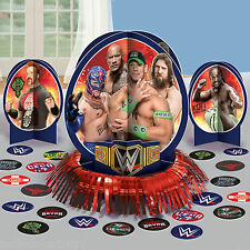 23 Piece WWE Wrestling Champions Children's Birthday Party Table Decorating Kit