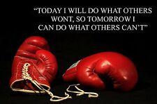 Boxeo inspiradores / Motivacional citar Cartel / impresión / imagen fantástica (11