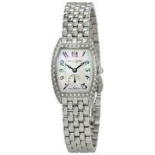 Frederique Constant Art Deco Mother of Pearl Silver Dial Ladies Diamond Watch