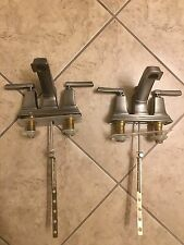 Two (2) Moen Boardwalk Chrome Two-Handle Low Arc Bathroom Faucet 84800 Nickel