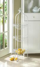 Corner Basket Stand Plant Kitchen/Bathroom Storage Fruit Vegetable Holder Racks