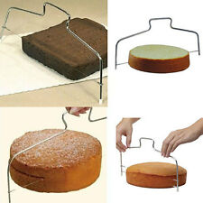 Adjustable Stainless 2 Wires Cake Cutter Slicer Leveler Pizza Dough Trimmer Tool