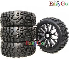 4pcs new 1:8 RC off Road Buggy Tires Wheels for HPI XTR Badlands Car Upgrade
