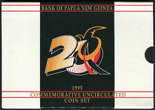 Papua New Guinea set of 6 coins 1 Toea - 1 Kina 1995 BU - Commemorative w/folder