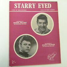 song sheet STARRY EYED, Michael Holliday, Duffy Power, 1959
