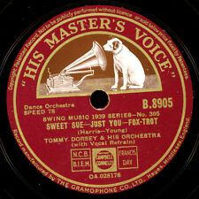 TOMMY DORSEY & HIS ORCH. Sweet Sue - just you / BENNY GOODMAN ORCH. 78rpm  X1298
