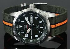 NEW SEIKO 5 SPORTS 24 JEWEL MANUAL WIND AUTOMATIC MILITARY INSPIRED SRP515K1