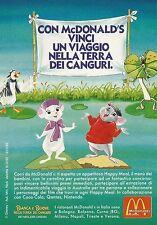 X7238 Mc Donald's Happy Meal - Personaggi Bianca e Bernie - Pubblicità 1991 - Ad