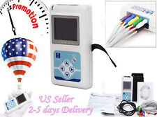 Portable 12-Channel 24H ECG EKG Holter Analysis System Recorder software Monitor