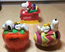 Snoopy Piggy Bank Whitmans Candies Peanuts Christmas Sleigh Halloween & Easter
