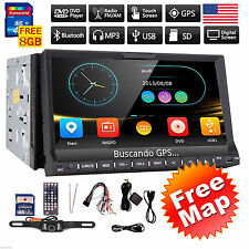 "HD 7"" 2 Din In Dash Car Stereo DVD Player GPS Navigation Bluetooth Radio+CAMERA"