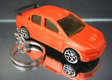 Mitsubishi Lancer Evolution Key Chain Ring Orange 3D Fob