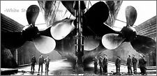 Poster Print: RMS Titanic: 3 Propellers Under The Stern View In Drydock - 1912