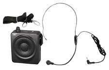 Pyle Pwma50S New Black Portable Pa System With Headset Mic 50 Watts Amp
