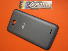 COVER BATTERIA Per LG OPTIMUS L70 D320N D325 ORIGINALE NERO FLIP BACK NUOVO