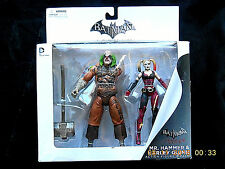 DC COLLECTIBLES ARKHAM CITY MR HAMMER & HARLEY QUINN ACTION FIGURE BOXSET! NEW!