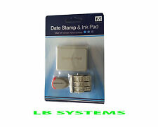 DATE STAMP AND BLACK INK PAD IDEAL STAMPING FOR SCHOOL OFFICE  HOME