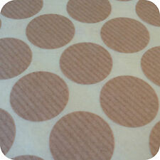 25mm Round Blank Stickers - Brown Ribbed Kraft Paper Wedding Favour Party Labels