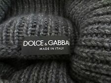 DOLCE&GABBANA Barneys New York Charcoal Poncho Cape Sweater One Size