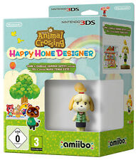 Animal Crossing Happy Home Designer + Amiibo Fuffi LIMITED EDITION Nintendo 3DS
