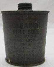 U.S. Military WW2 Cleaner - Rifle Bore Tin - Poison Fidelity MFG Co. USA 2 oz