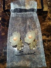 New Snidel Flower Clip earrings 2014 Spring Cllection