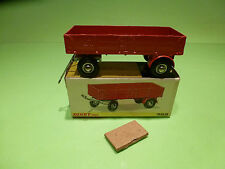 DINKY TOYS 428 TRAILER MOVABLE TRAILING ARM - RARE SELTEN - GOOD COND. IN BOX