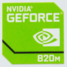 NVIDIA GEFORCE 820M STICKER LOGO AUFKLEBER 18x18mm (445)