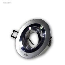 Luce Faretto Ad Incasso Tondo ALU-spazzolato orientabile MR16 Cornice per 12V