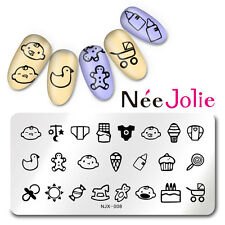 Rectangle Nail Art Stamping Image Plate Manicure Template Baby Design NJX-008