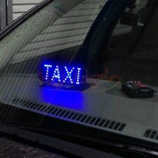 High Quality Taxi Cab Windscreen Windshield Sign Blue LED Light Lamp Bulb DC 12V