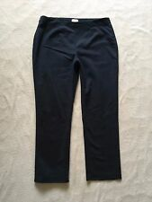 CHICO'S SO SLIMMING BLACK PANTS size 2.5 SHORT Side Zip  Figure Flattering A7