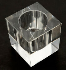 ANTIQUE Vintage DESKTOP Clear Glass FOUNTAIN PEN Paperweight INKWELL / Insert