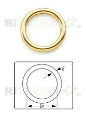 10 St. Rundring / Rundringe Messing 25 x 3,5 mm 900681 - P2.5a